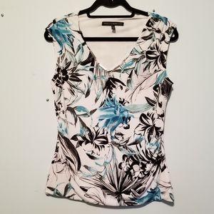 WHITE HOUSE BLACK MARKET lined sleeveless blouse